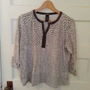 Olsen organic cotton animal print blouse - size M